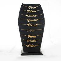Colier Nume Personalizat Placat cu Aur